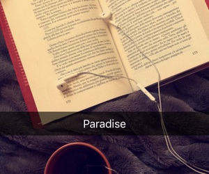 book, paradise, and blanket image