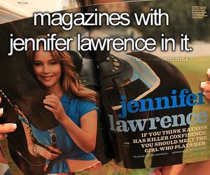 Jennifer Lawrence, actress, and magazine image