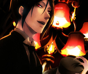 black butler, mangaka, and sebastian michaelis image