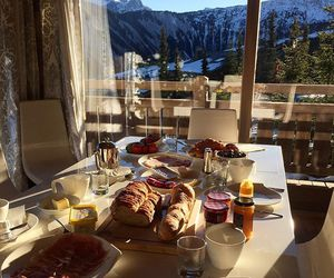 food, breakfast, and mountains image