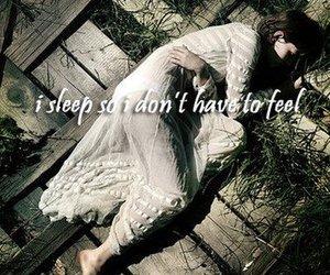 girl, sleep, and alone image