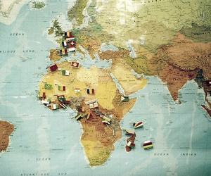map, world, and flag image