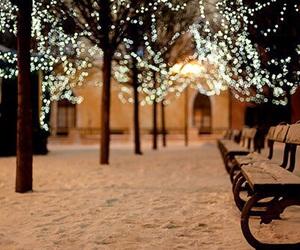 christmas, december, and panorama image