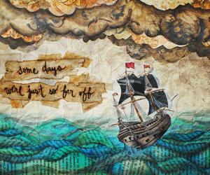 art, ship, and boat image