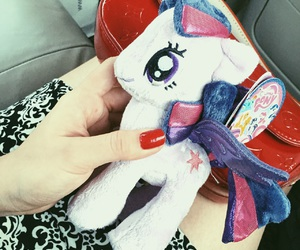 pony, purple, and red nail image