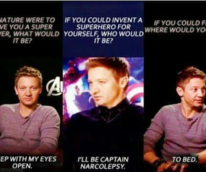 interview, sleep, and jeremy renner image