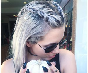 alternative, grey hair, and dyed hair image