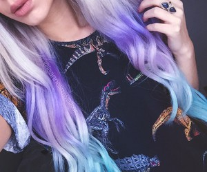 aesthetic, soft grunge, and dyed hair image