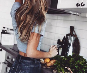 food and hair image