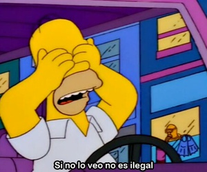 homer, simpsons, and ilegal image