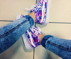 vans, purple, and style image