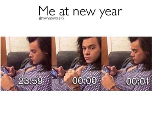 Harry Styles, funny, and new year image