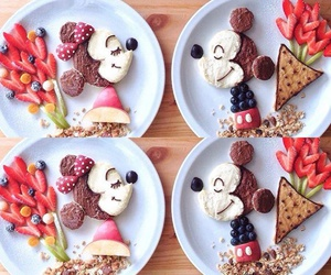 love, food, and minnie image