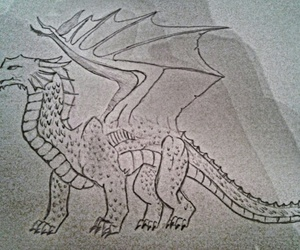 art, doodle, and dragon image