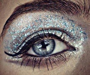 glitter, makeup, and eye shadow image