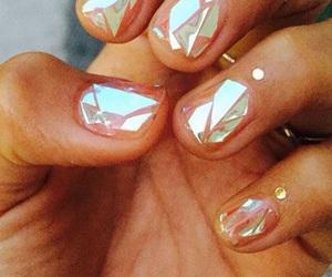 nails, nail art, and glass image
