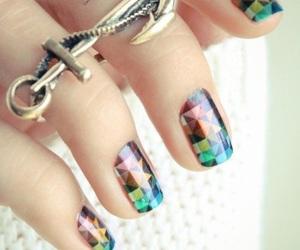 nails, ring, and nail art image