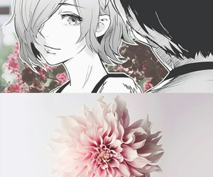 tokyo ghoul, manga, and flowers image