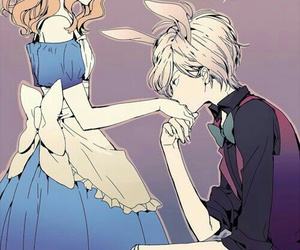alice and wonderland, anime, and couple image