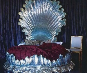 bed, mermaid, and shell image