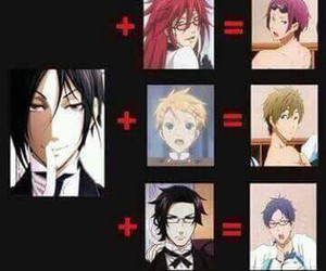 anime, black butler, and free! image