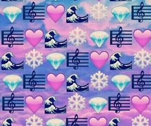 emoji, heart, and wallpaper image