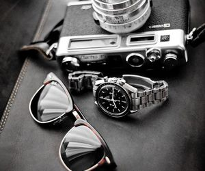 camera, watch, and photography image