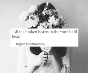 quote, broken, and broken heart image