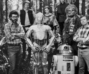 star wars, c3po, and george lucas image