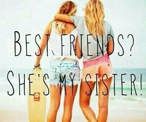 sisters, friendship, and friends image