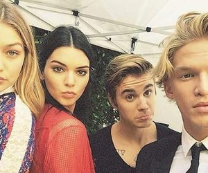 justin bieber, kendall jenner, and cody simpson image