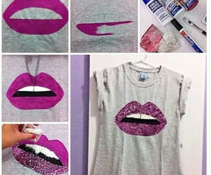 diy, lips, and shirt image