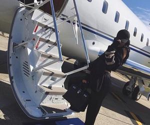airplane, luxury, and kardashian image