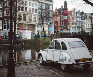 car, amsterdam, and vintage image