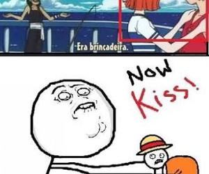 anime, funny, and kiss image