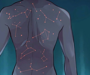 stars, art, and constellation image