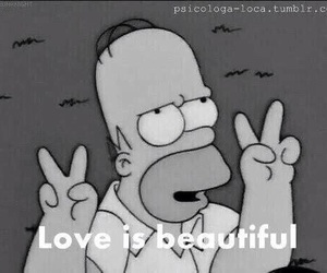love, homer, and simpsons image