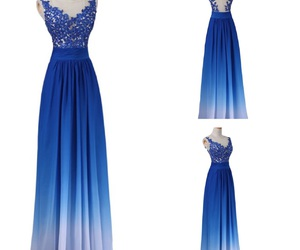 blue, dresses, and prom dresses image
