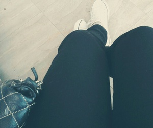 alone, girl, and black jeans image