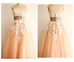dresses, peach, and pretty image