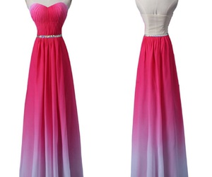 dresses, prom dresses, and ombre image