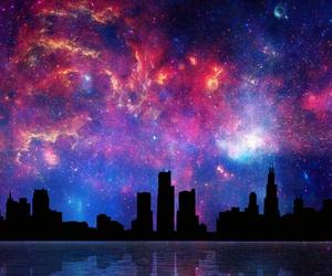 galaxy and city image
