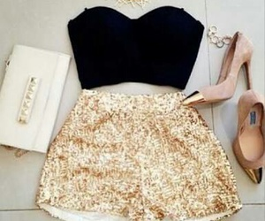 gold and outfit image