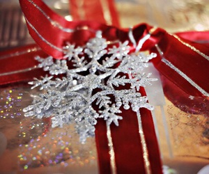 christmas, snowflake, and gift image