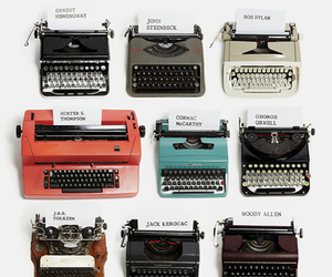typewriter, vintage, and writer image