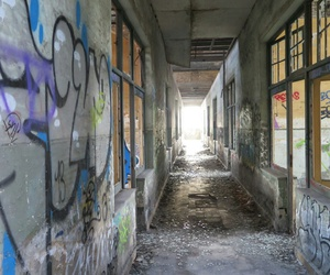 abandoned, building, and belguim image