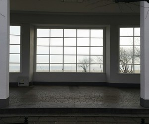 architecture, hall, and window image