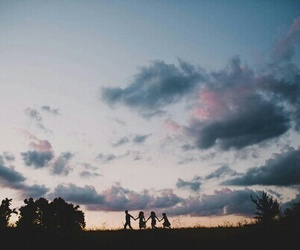 sky, friends, and photography image