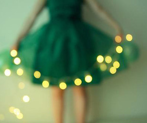 dress, light, and green image