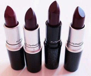 lipstick, mac, and dark image